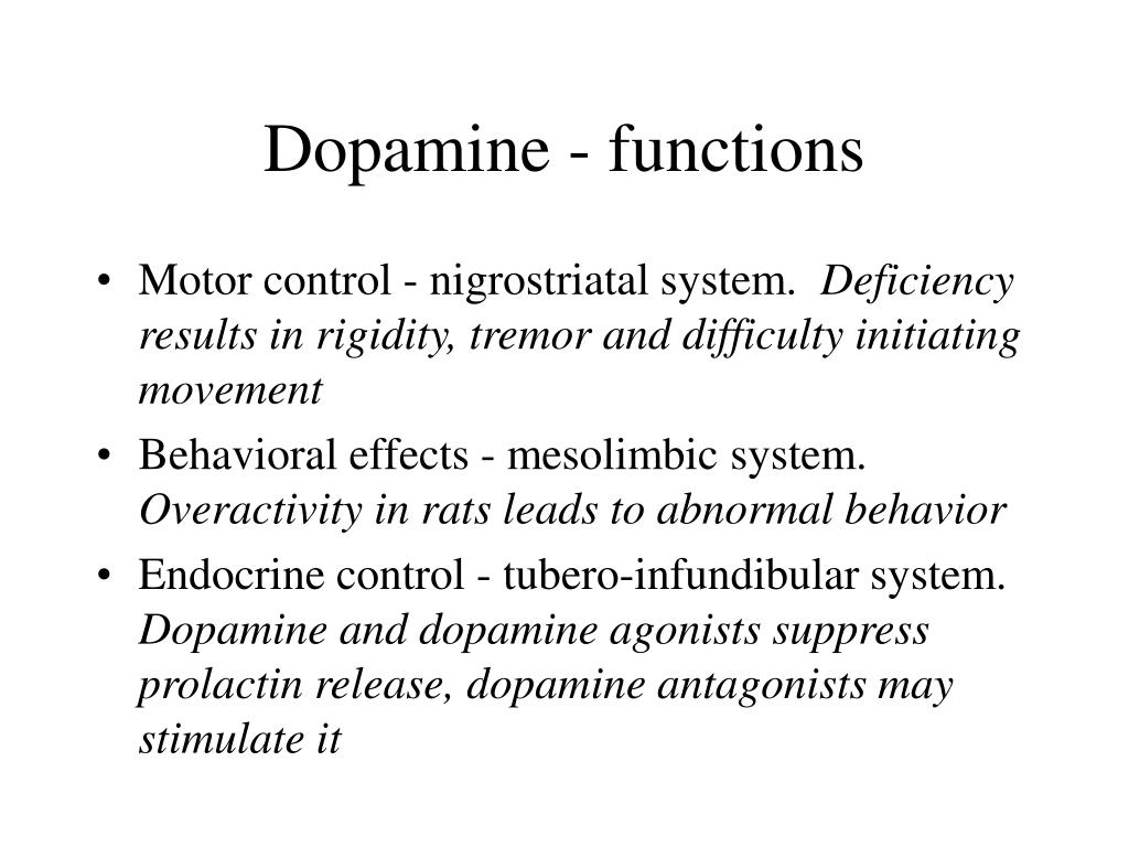 Dopamine - functions