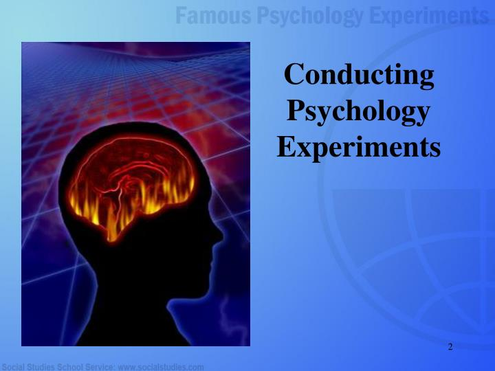 Conducting psychology experiments