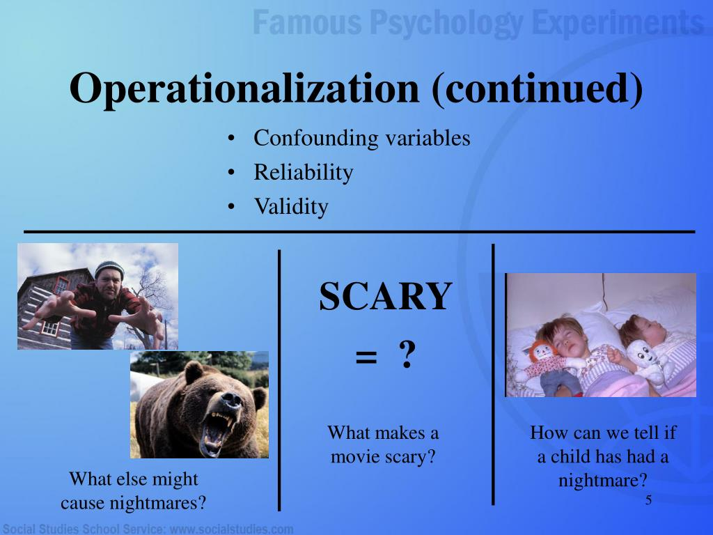 Operationalization (continued)