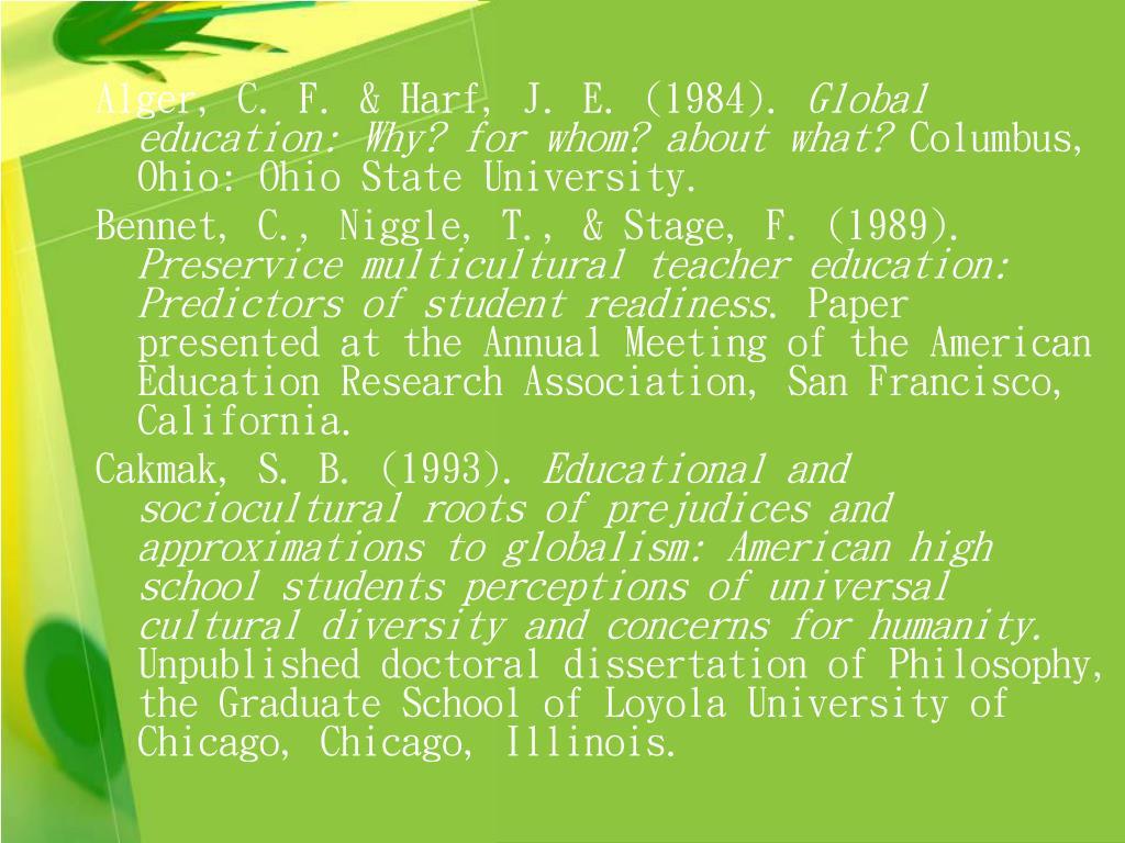 Alger, C. F. & Harf, J. E. (1984).