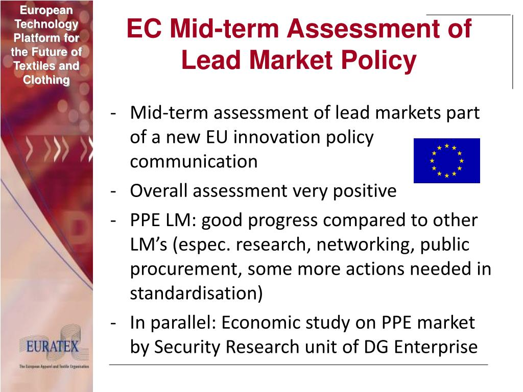 EC Mid-term Assessment of Lead Market Policy
