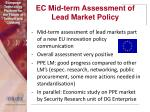 ec mid term assessment of lead market policy