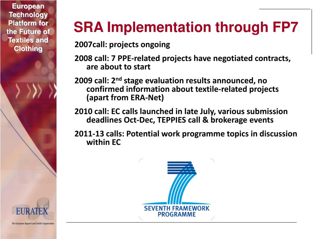 SRA Implementation through FP7