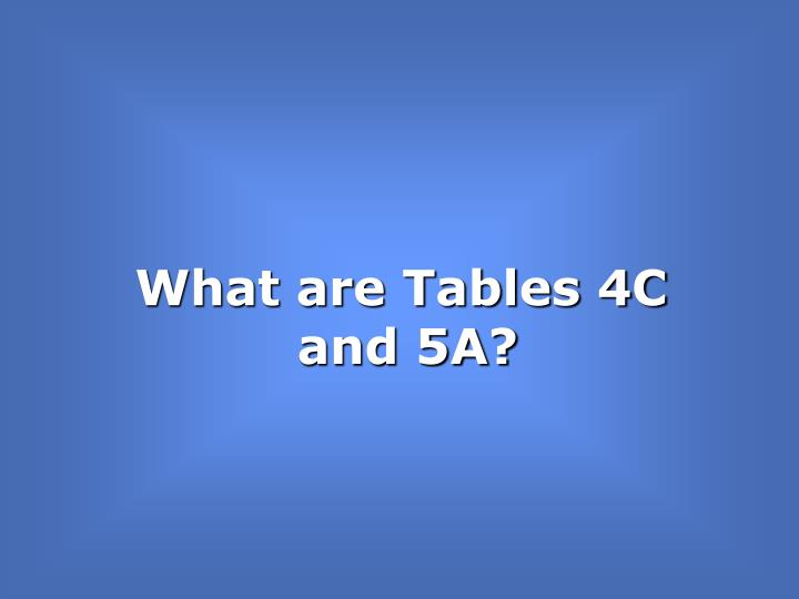 What are Tables 4C and 5A?