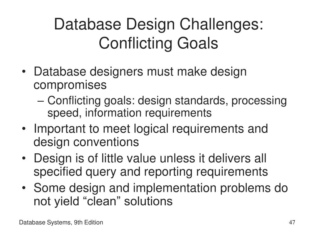 Database Design Challenges: