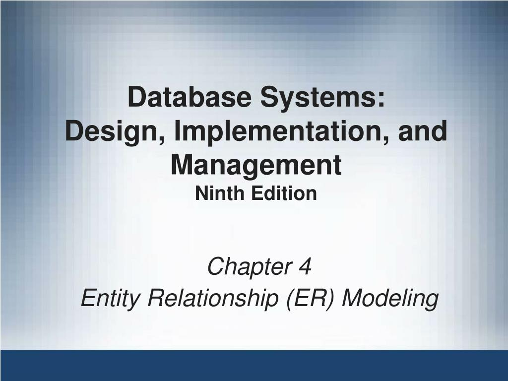 Database Systems: