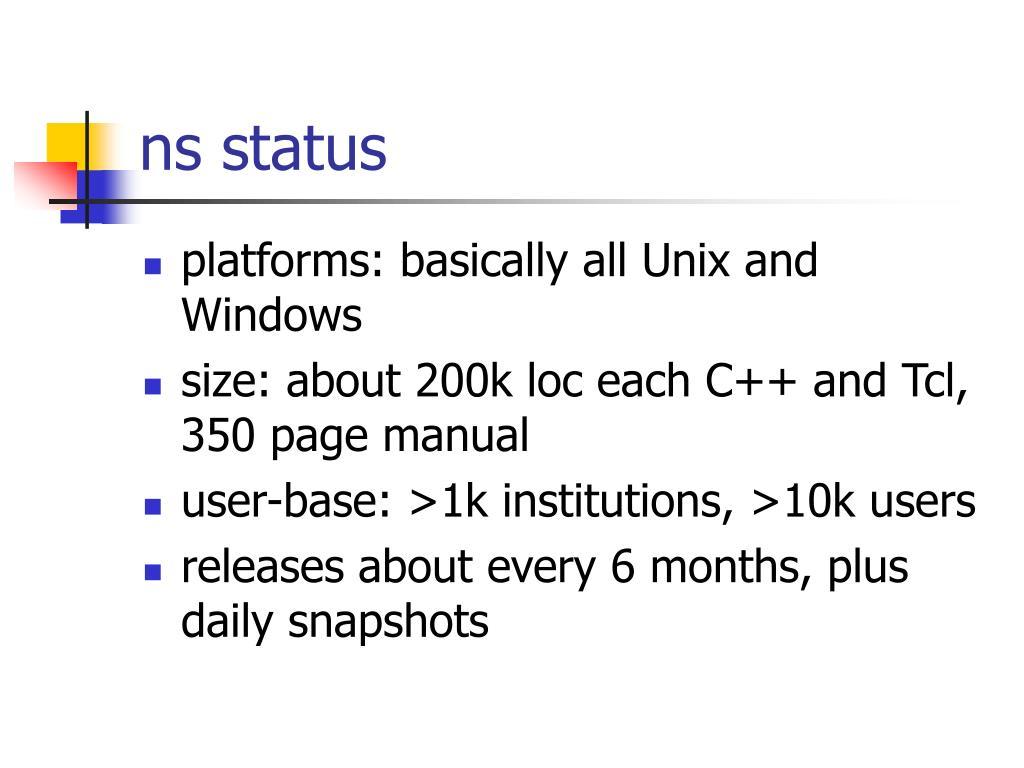 ns status