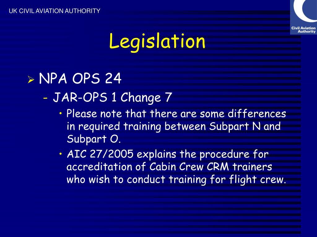 Legislation