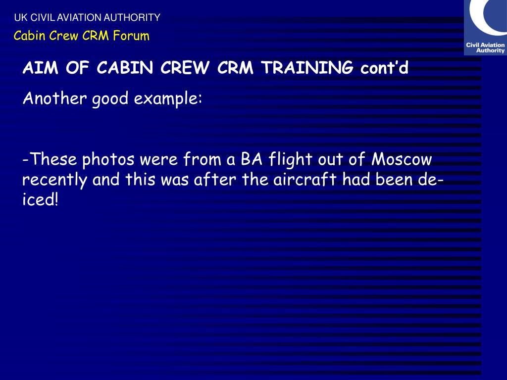 Cabin Crew CRM Forum