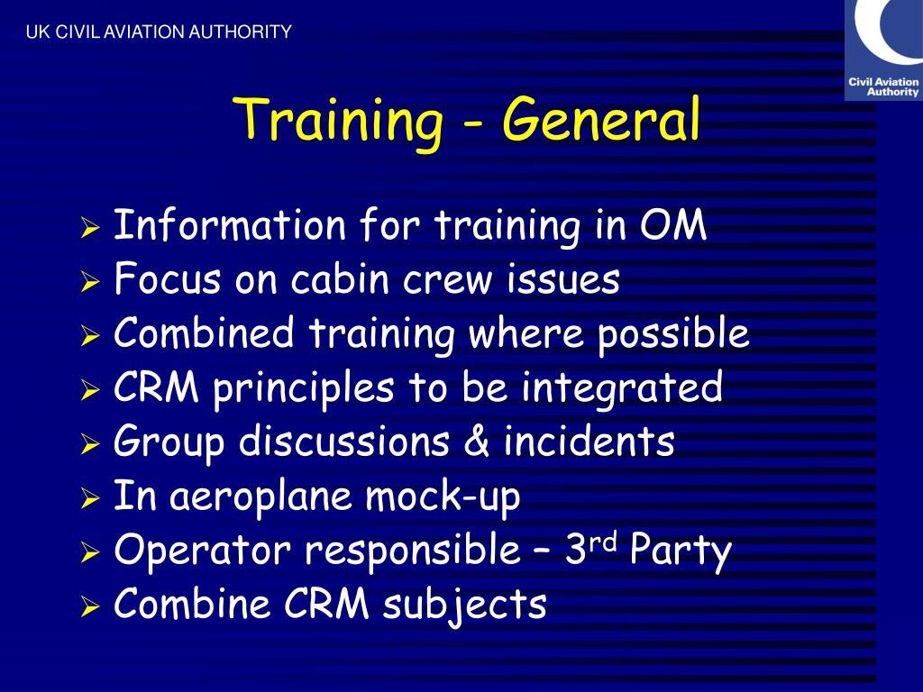 Training - General