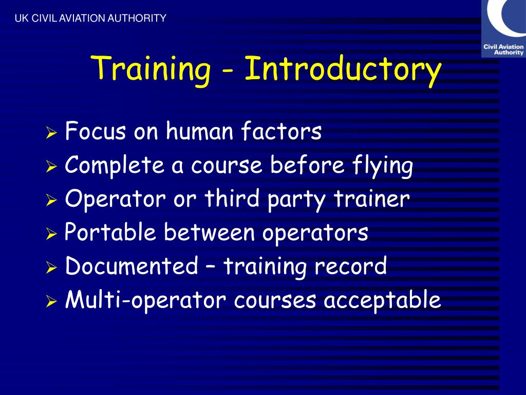 Training - Introductory