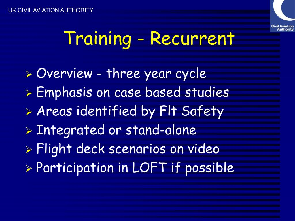 Training - Recurrent