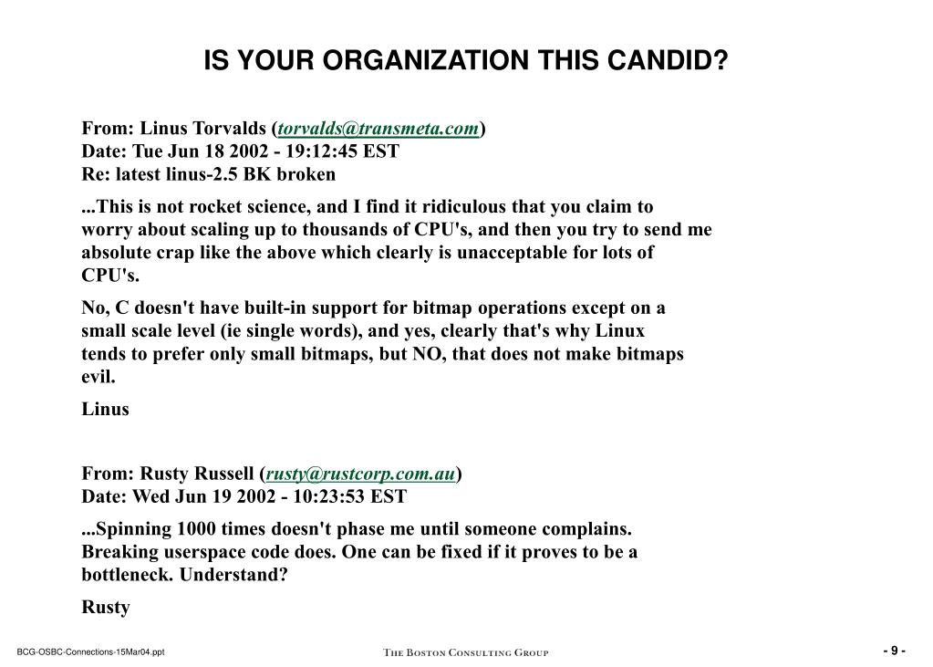 IS YOUR ORGANIZATION THIS CANDID?