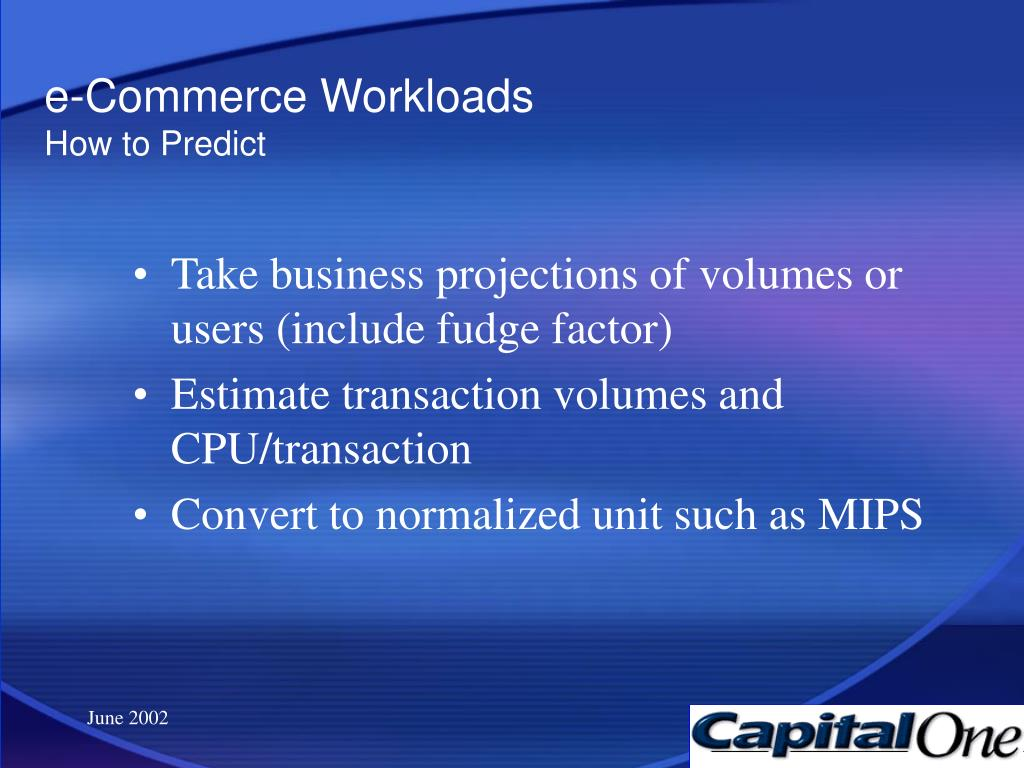 e-Commerce Workloads