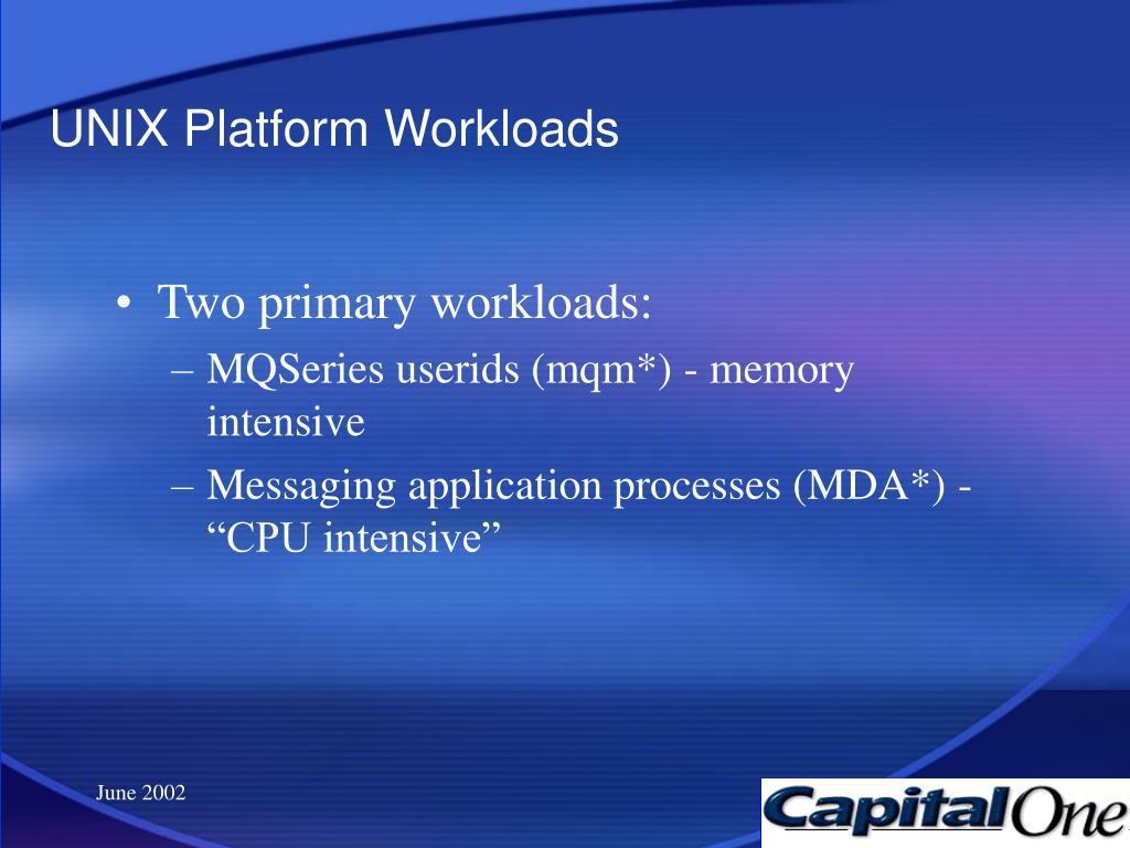 UNIX Platform Workloads