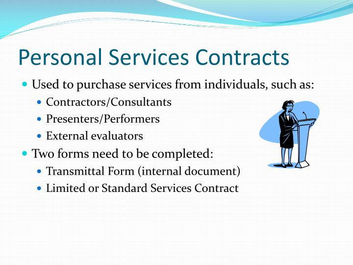 Personal Services Contracts