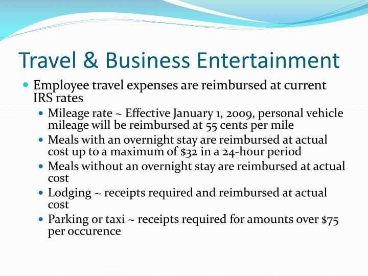 Travel & Business Entertainment