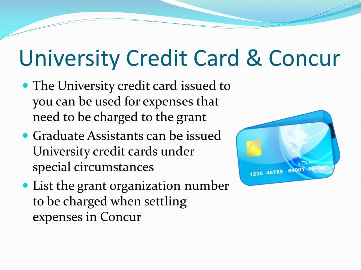 University Credit Card & Concur