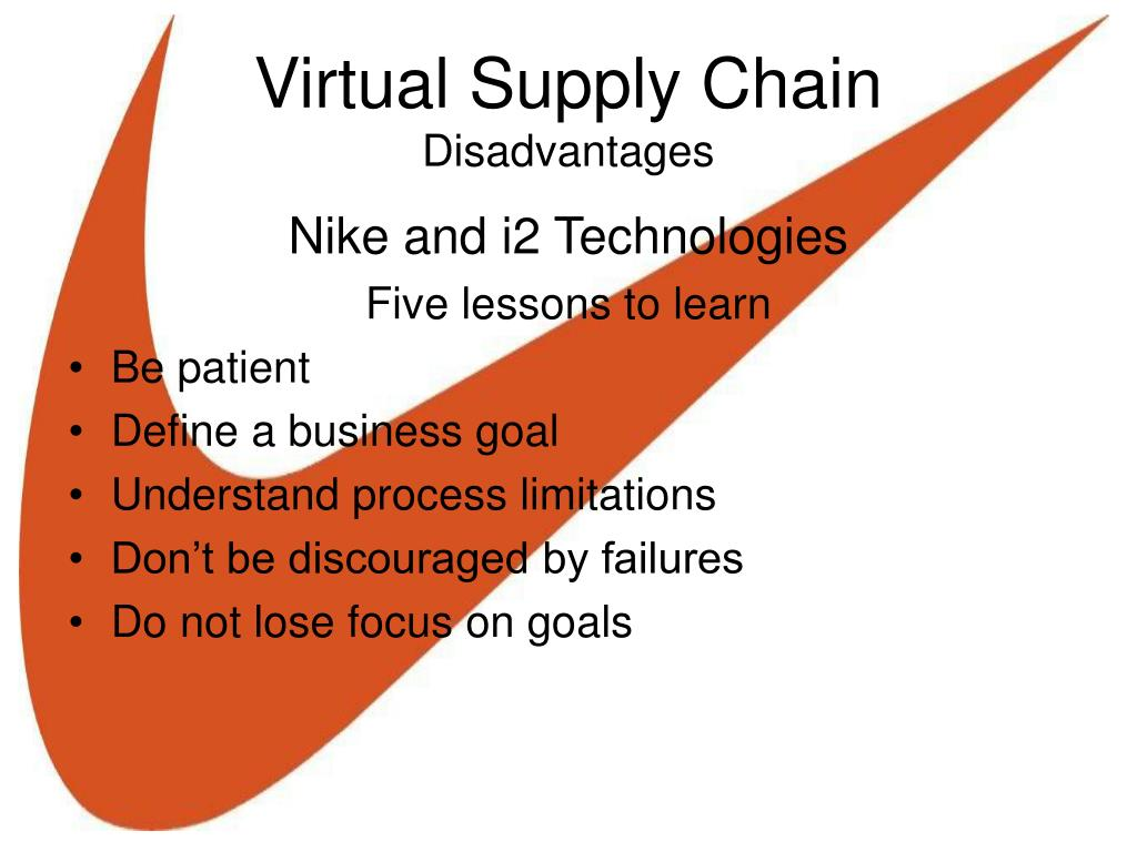 disadvantages of virtual supply chains Virtual supply chain amazoncom the main three are the keiretsu network, virtual company, vertical integration all three have their advantages and disadvantages.