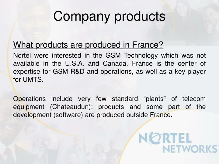 What products are produced in France?