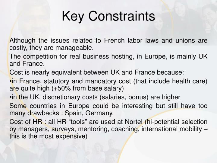 Although the issues related to French labor laws and unions are costly, they are manageable.