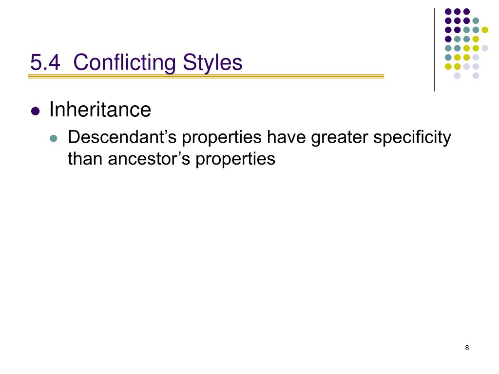 5.4Conflicting Styles