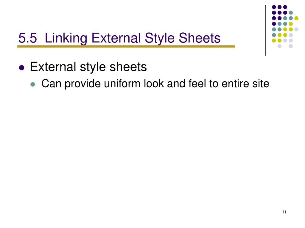 5.5Linking External Style Sheets