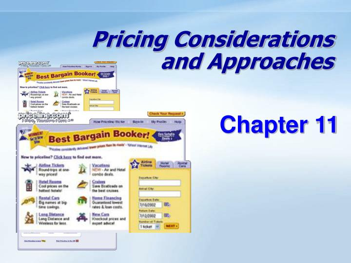Pricing considerations and approaches l.jpg