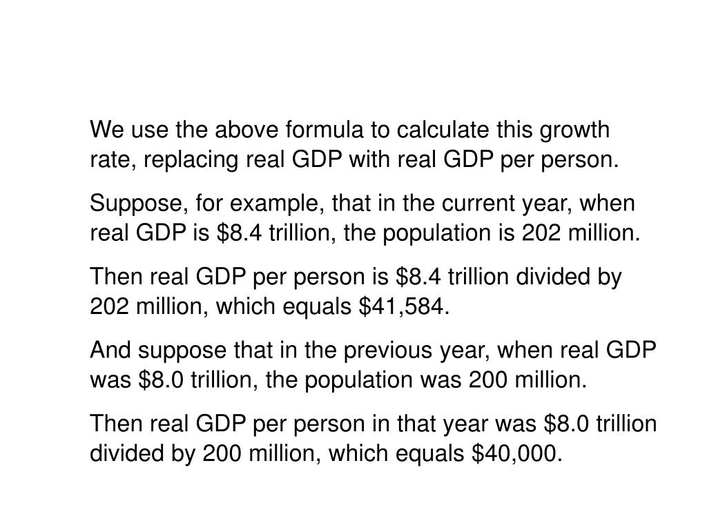 10.1 THE BASICS OF ECONOMIC GROWTH
