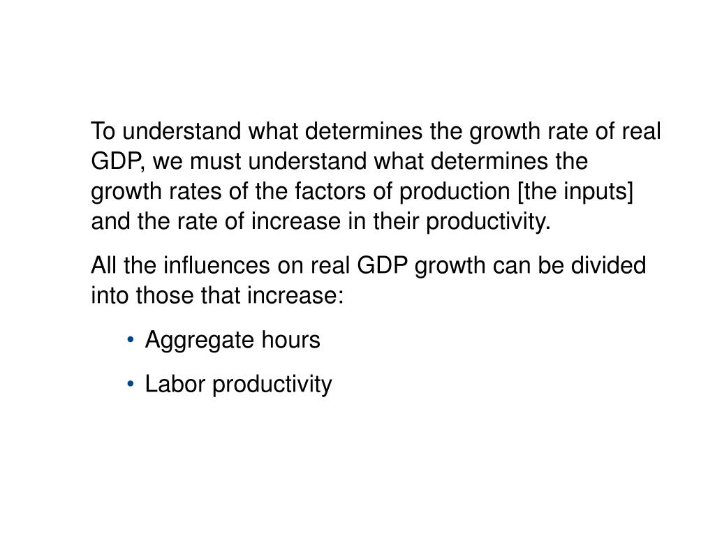 10.2 SOURCES OF ECONOMIC GROWTH