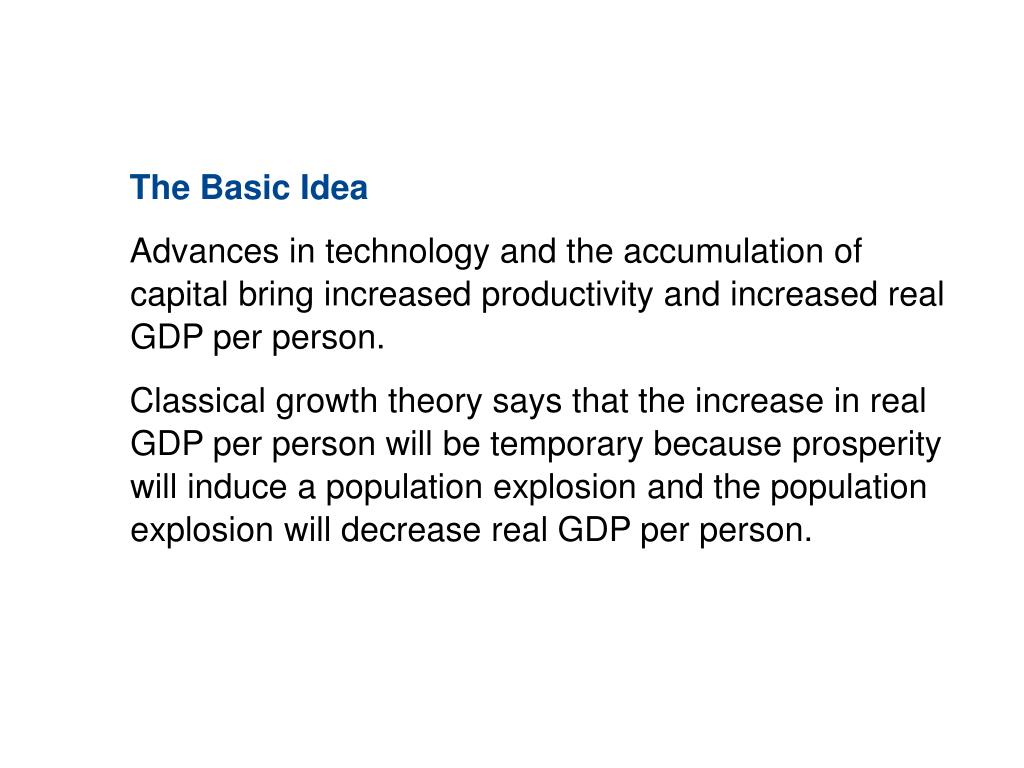 10.3 THEORIES OF ECONOMIC GROWTH