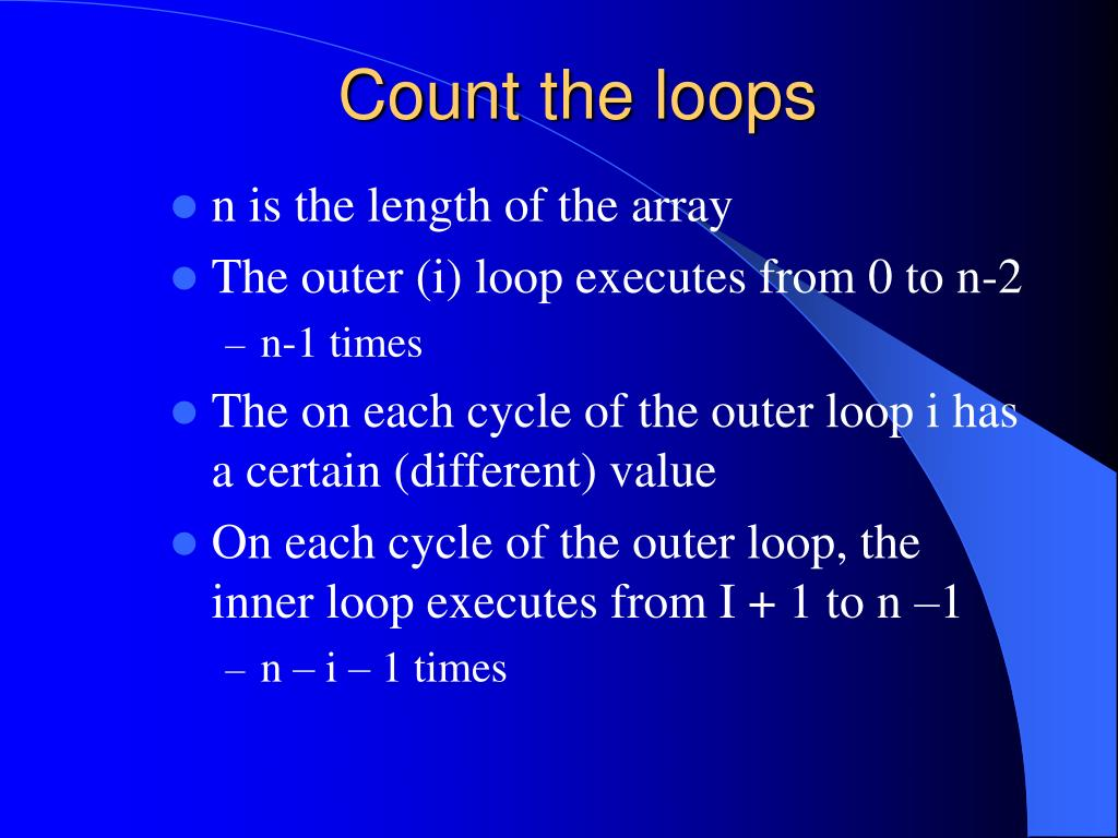 Count the loops