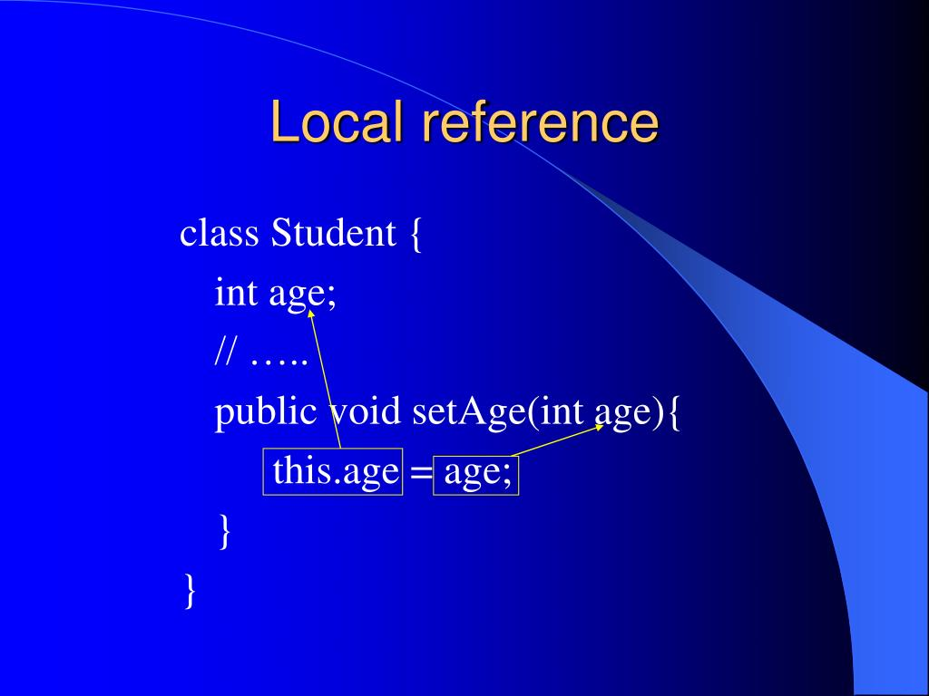 Local reference
