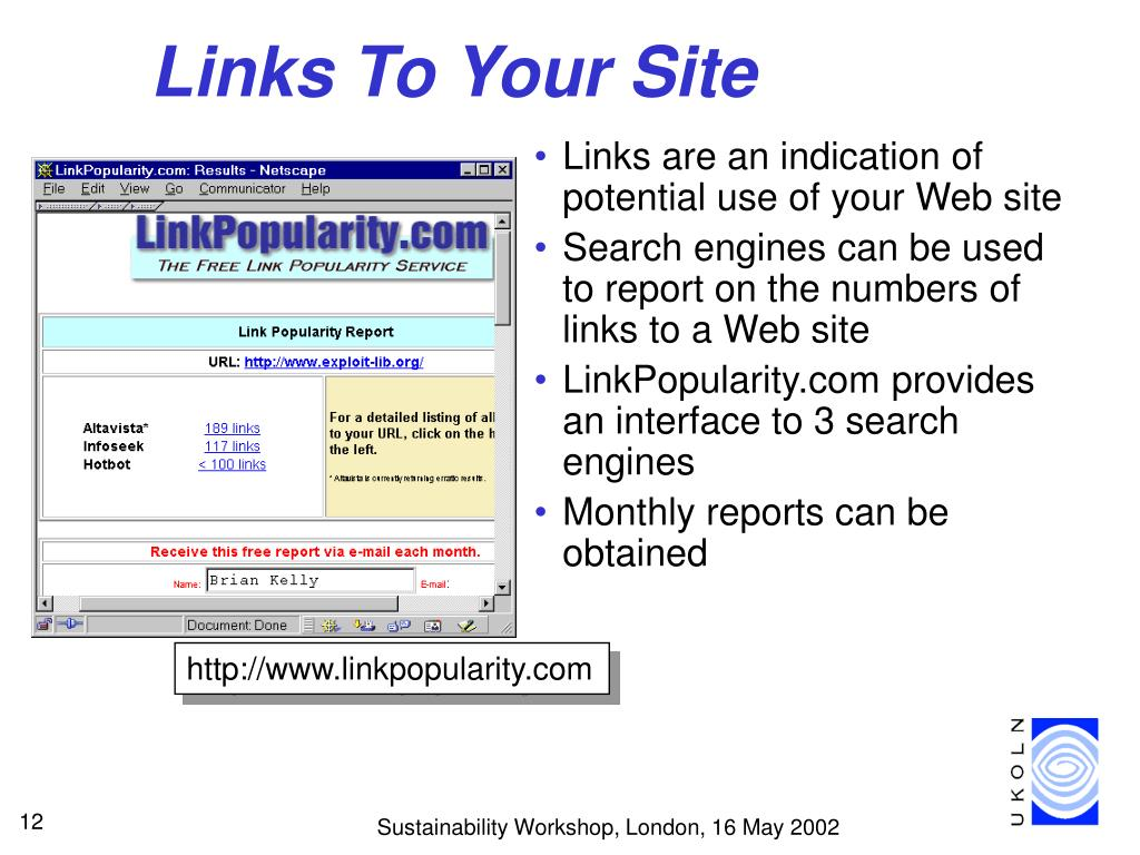 Links To Your Site