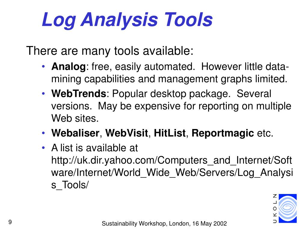 Log Analysis Tools