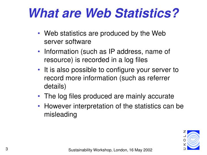 What are web statistics