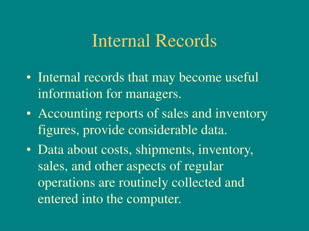 Internal Records