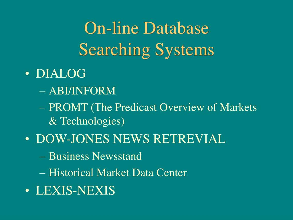 On-line Database
