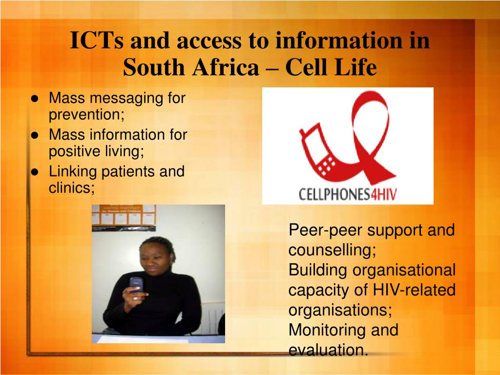 ICTs and access to information in South Africa – Cell Life