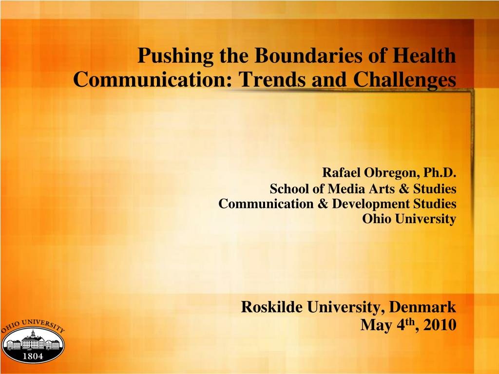 Pushing the Boundaries of Health Communication: Trends and Challenges