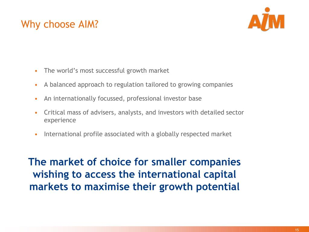 Why choose AIM?