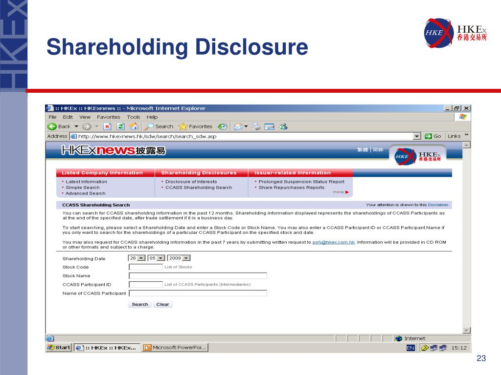 Shareholding Disclosure