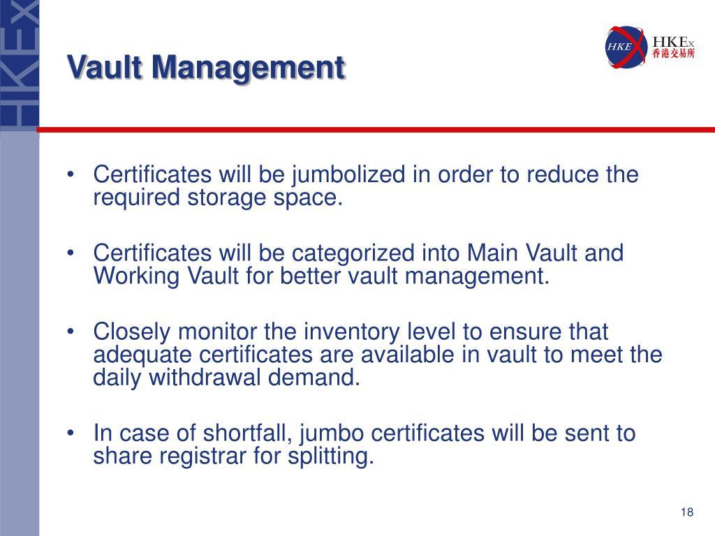 Vault Management