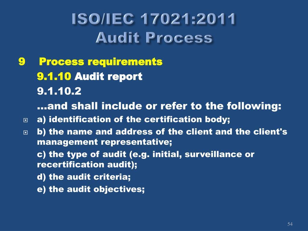 ISO/IEC 17021:2011