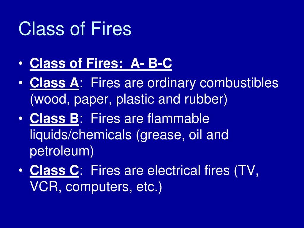 Class of Fires