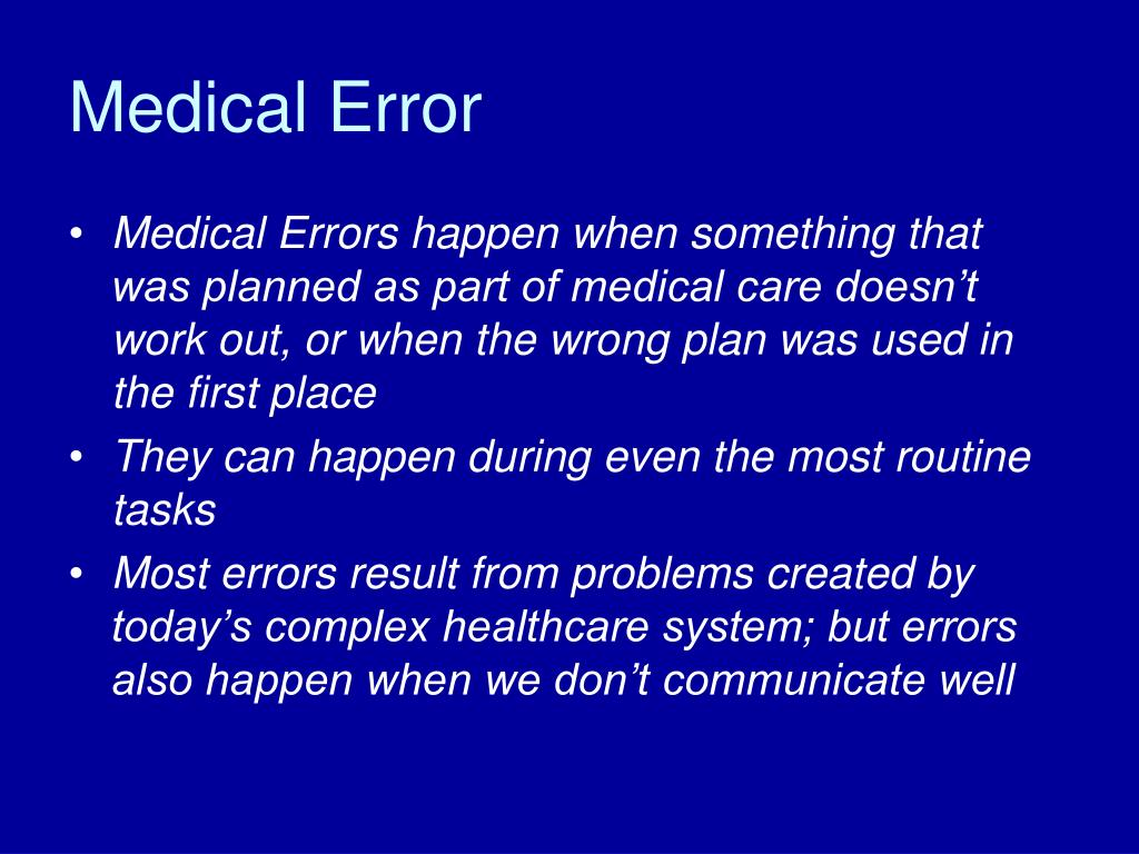 Medical Error