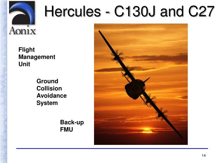 Hercules - C130J and C27