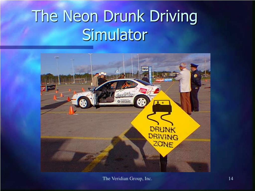 The Neon Drunk Driving Simulator