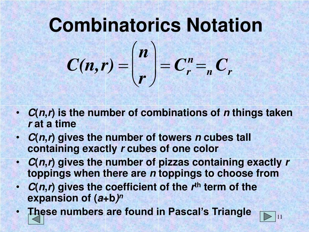 Combinatorics Notation