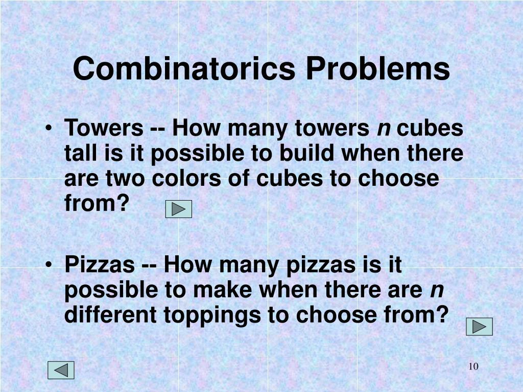 Combinatorics Problems